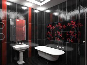 Облицовка ванной комнаты керамической плиткой