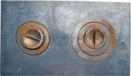 Плита чугунная печная двухкомфорочная (710х410мм)