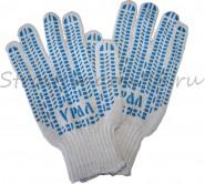 Перчатки х/б с защитой от скольжения (5 нитей)
