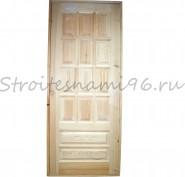 Дверь филенчатая с коробкой (2100*860*70мм), сосна