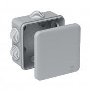 Коробка монтажная распределительная 85*85*42 мм с крышкой для открытого монтажа 6 вводов IP55