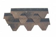 Черепица гибкая Шинглас Финская (1000мм*317мм*3мм) (3м2/упак.), коричневый