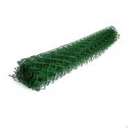 Сетка рабица с зелёным полимерным покрытием (д.2,8мм*1,5м*10м), ячейка 50*50 мм.