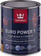 Краска Тиккурилла Евро Power 7 База А (0,9 литра) латексная, матовая, для внутренних работ