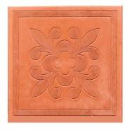 Тротуарная плитка Краковский квадрат (300*300*30мм), красная