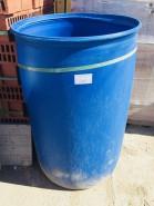 Бочка пластмассовая, 227 литров, (без крышки), чистая