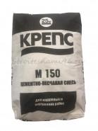 Крепс М-150 цементно-песчаная смесь для наружных и внутренних работ, 25кг