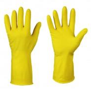 Перчатки, резиновые жёлтые (размер L)