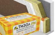 Тизол Евро-Фасад Оптима П-120 (1000*600*50мм/6 плиты),3,6 м.кв - 0,18 м.куб теплоизоляция
