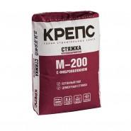 Крепс М-200 стяжка с фиброволокном от (40-100мм) подходит для тёплого пола, 25кг.