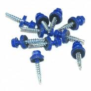 Саморез (4,8-35мм), синий RAL 5005, 100шт.