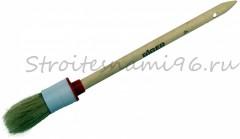 Кисть КР4/25мм светлая дерев. ручка