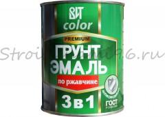 Грунт-эмаль по ржавчине 3 в 1 (красно-коричневая), 0,8 кг
