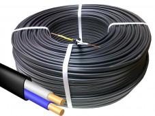Кабель ВВГнг(А)-П 2*1,5кв.мм медный 0,66кВ с ПВХ изоляцией негорючий с низким дымо-газовыделением