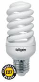 Лампа люминесцентная NCLP-SF-20-840-E27, 20W 4000K, форма колбы - спираль, 8000h, Navigator