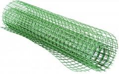 Сетка заборная пластиковая(садовая)(1*20м) ячейка 15*15мм, зеленая