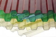 Поликарбонат монолитный кровельный (1,2*1050*2000мм), зеленый