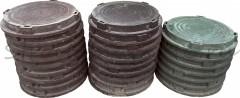 Люк канализационный полимерный (750*80*620 мм) (до 3-х тонн), коричневый