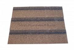 Коньки-карнизы Шинглас (микс коричневый)(1000*250*3,4мм),3 м2/упак.