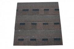 Черепица гибкая Шинглас Ранчо коричневый (1000мм*335мм*2,7мм), 1 упак./14шт.-2м.кв.