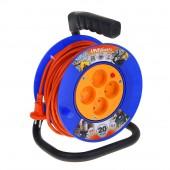 Удлинетель на катушке 4 розетки 30м термозащита ПВС 2*0.75 У6-014 (190мм)