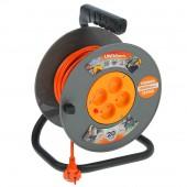 Удлинитель на катушке 4 розетки 20м с заземлением ВЕМ-250 термо ПВС 3*0.75 Universal 963415