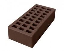 Кирпич керамический пустотелый одинарный лицевой М125/150 (250мм*120мм*65мм), (262 шт/под), цвет шоколад г. Ревда