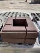 Тумба Лего (400*400*95мм), светлый шоколад